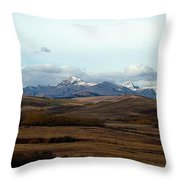 Fall Hills Rolling Towards The Mountains Throw Pillow