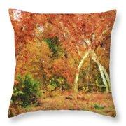 Fall Impression Throw Pillow