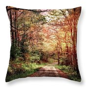 Fall In Monongalia County Throw Pillow