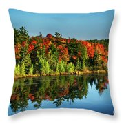 Fall In Northern Wisconsin Throw Pillow