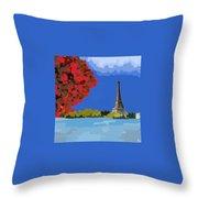 Fall In Paris Throw Pillow