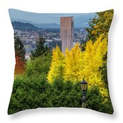 Fall In Portland Or Throw Pillow