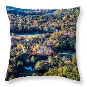 Fall In Shenandoah Valley Throw Pillow