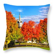 Fall In The Country Throw Pillow
