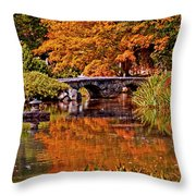 Fall In The Japanese Gardens Throw Pillow