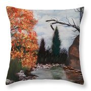 Fall In The Mountains Throw Pillow