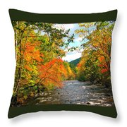 Fall In The Smokey Mountains  Throw Pillow