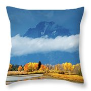 Fall At The Oxbow Throw Pillow