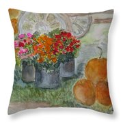 Fall In Vermont Throw Pillow