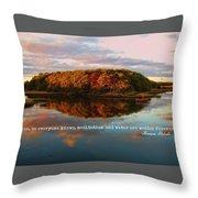 Fall In Wellfleet Quote Throw Pillow