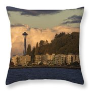 Fall In West Seattle Throw Pillow