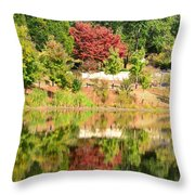 Fall Tree -loganville Georgia Throw Pillow