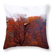 Fall Landing Throw Pillow