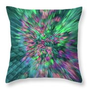 Fall Leaf Zoom Abstract Throw Pillow