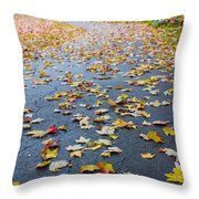 Fall Leaves Throw Pillow by Michael Tesar