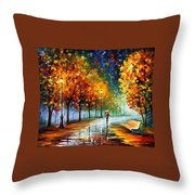 Fall Marathon Throw Pillow