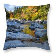 Fall Morning At Swift River Throw Pillow