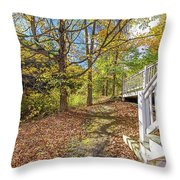 Fall Morning Throw Pillow