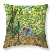 Fall Nymphs - IIi Throw Pillow