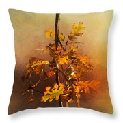Fall Oak Leaves Throw Pillow
