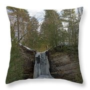 Fall Of Ice Throw Pillow