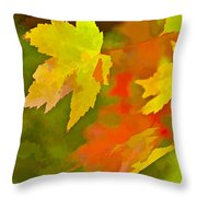 Fall Of Leaf Throw Pillow