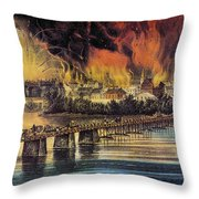Fall Of Richmond, 1865 Throw Pillow