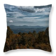 Fall On The All American Road Throw Pillow