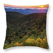 Fall On The Blue Ridge Parkway. Throw Pillow by Itai Minovitz