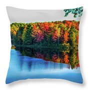 Fall On The Lake In Wisconsin Throw Pillow