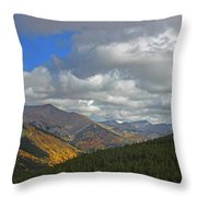 Fall On The Pass Throw Pillow