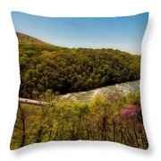 Fall On The Shenandoah River - West Virginia Throw Pillow