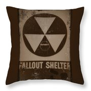 Fall Out Shelter Throw Pillow