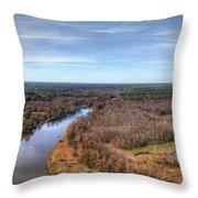 Fall Over Swift Creek Throw Pillow