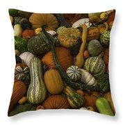 Fall Pile Throw Pillow