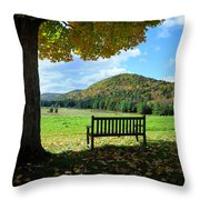 Fall Plains Throw Pillow