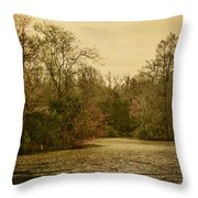 Fall Pond Throw Pillow