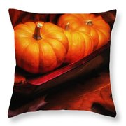 Fall Pumpkins Still Life Throw Pillow