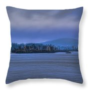 Fall Rainstorm Over Lake Wausau Throw Pillow