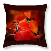 Fall Red 6675 Throw Pillow