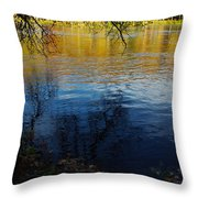 Fall Reflection At The River 2 Throw Pillow