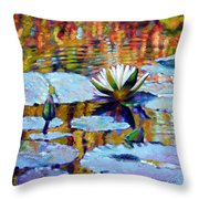 Fall Ripples Throw Pillow