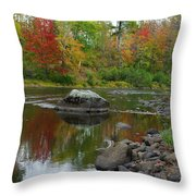 Fall River Reflection Throw Pillow