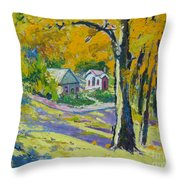 Fall Scenery Throw Pillow