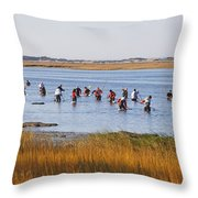 Fall Shellfishing Throw Pillow
