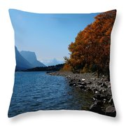 Fall Shoreline. Throw Pillow