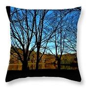 Fall Silhouette Throw Pillow
