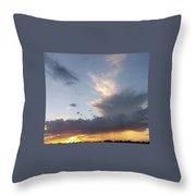 Fall Sky At Sunset Throw Pillow