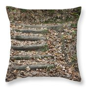 Fall Stairs Throw Pillow