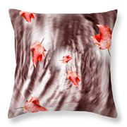 Fall Storm Leaves Throw Pillow